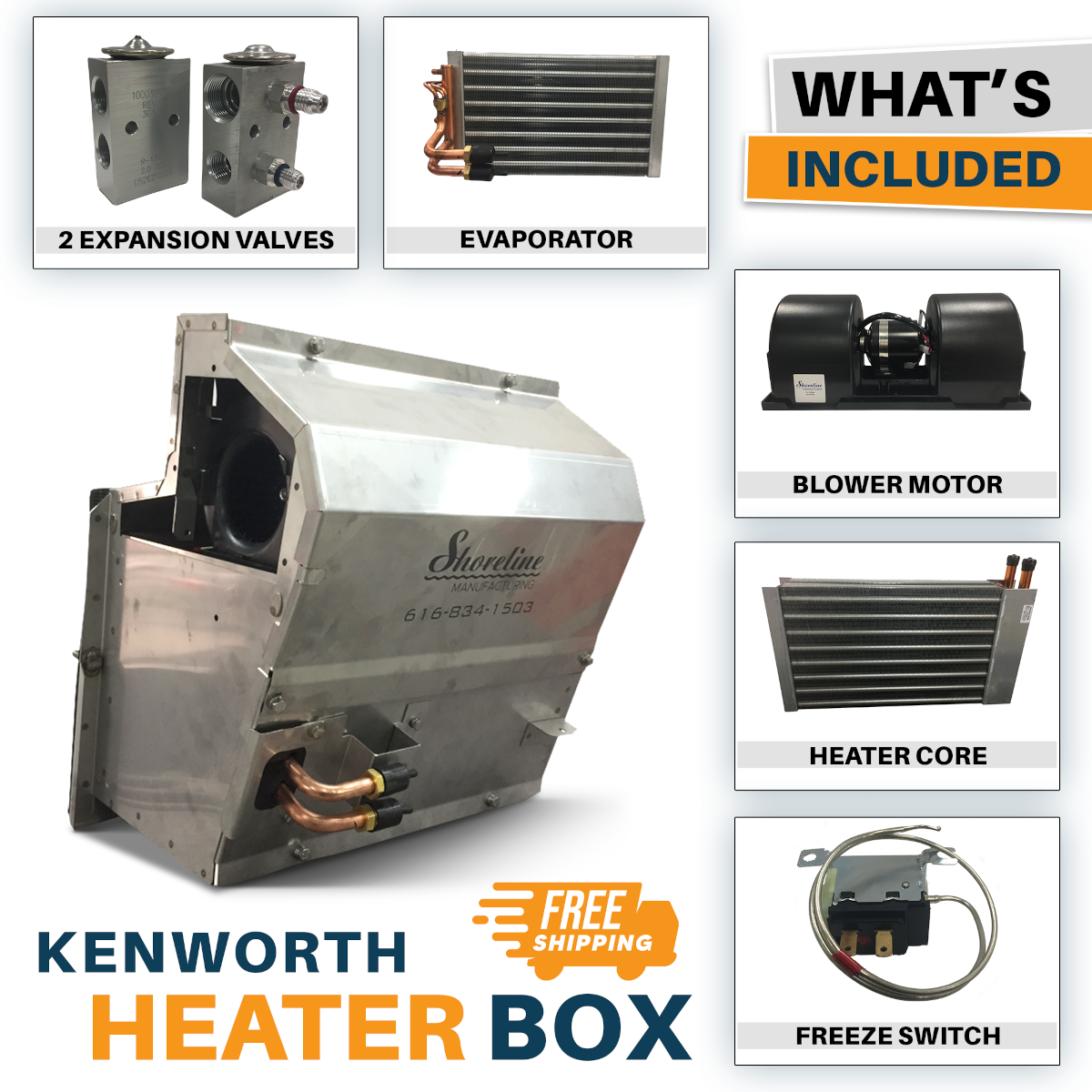 Kenworth Heater Box   HVAC Box   Heater Core Box