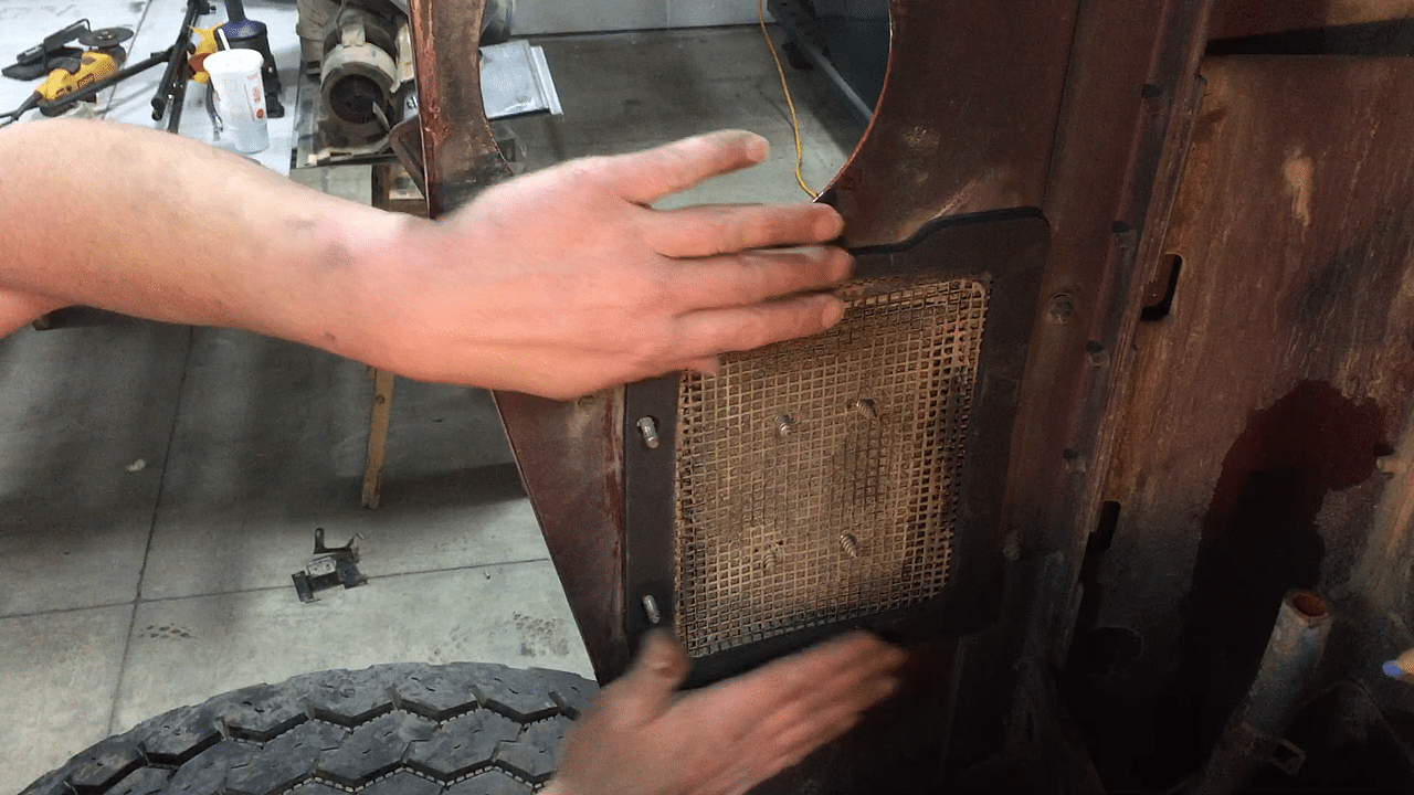Set gasket in place