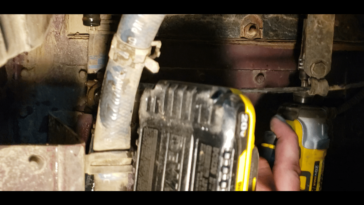 Step 8 - Remove the bracket that holds the mixing valve cable.ket that